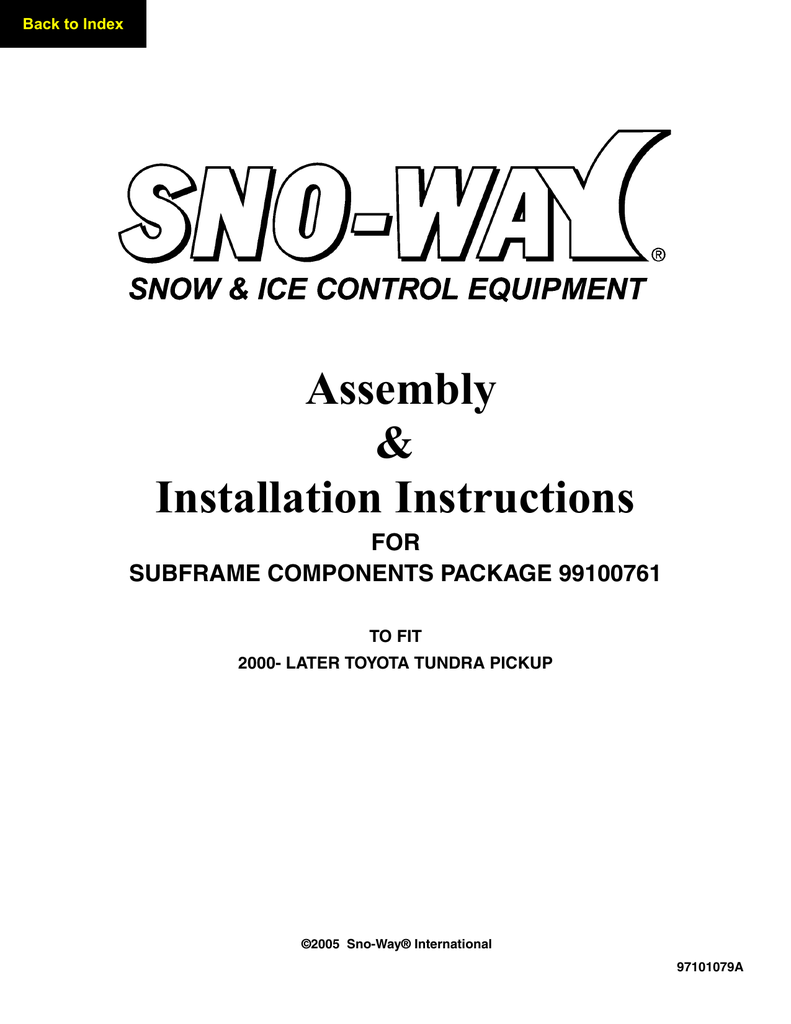 hight resolution of 99100761 2000 2006 toyota tundra pick up snoway mount instructions manualzz com