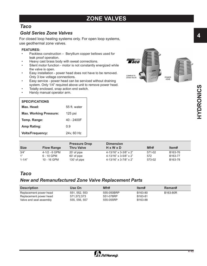 medium resolution of zone valves 4 taco gold series zone valves