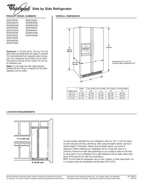 small resolution of side by side refrigerator