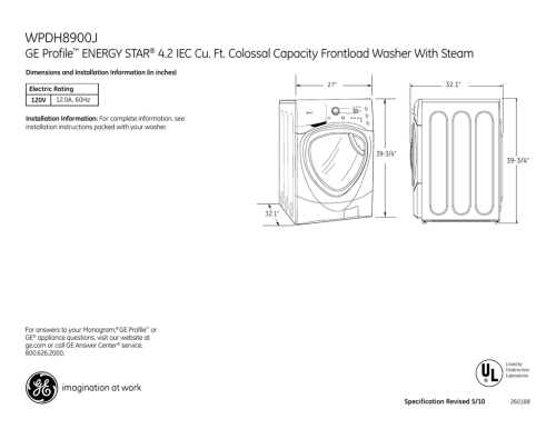 small resolution of wpdh8900j ge profile energy star