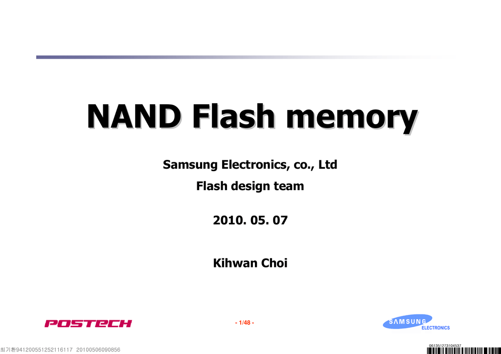 NAND Flash memory Samsung Electronics, co., Ltd Flash