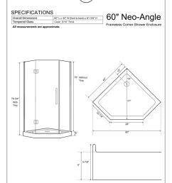 60 34 neo angle specifications frameless corner shower enclosure overall dimensions [ 791 x 1024 Pixel ]