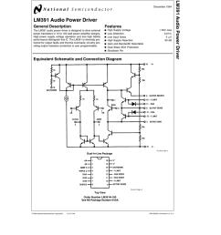 lm391 audio power driver lm391 audio power [ 791 x 1024 Pixel ]