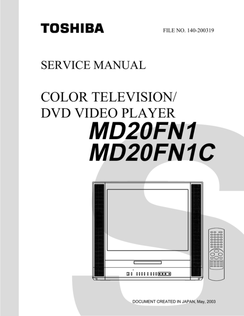 small resolution of md20fn1 md20fn1c color television dvd video player manualzz com toshiba lcd tv dvd 14dlv75 printed circuit board diagram electrical schematic and wiring