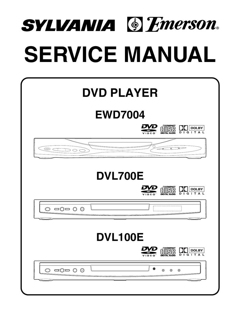 hight resolution of service manual dvd player ewd7004 dvl700e manualzz com