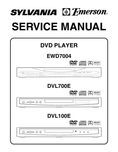 small resolution of service manual dvd player ewd7004 dvl700e manualzz com