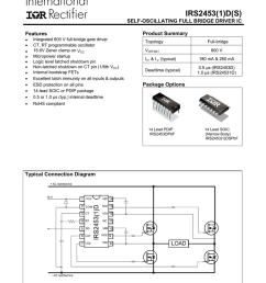 irs2453 1 d s self oscillating full bridge driver ic product summary [ 791 x 1024 Pixel ]
