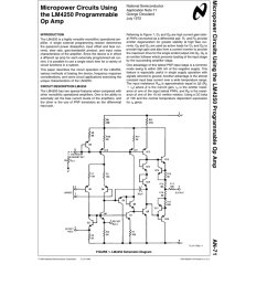 micropower circuits using the lm4250 programmable op amp micropower [ 791 x 1024 Pixel ]