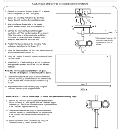 installation guide caution turn off power to electrical box before installing 1  [ 791 x 1024 Pixel ]