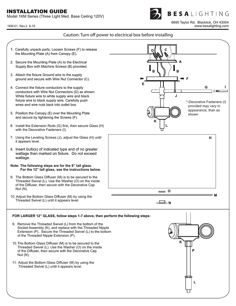 medium resolution of installation guide caution turn off power to electrical box before installing 1