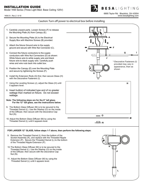 small resolution of installation guide caution turn off power to electrical box before installing 1