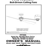 The Kellan Belt Driven Ceiling Fans Manualzz