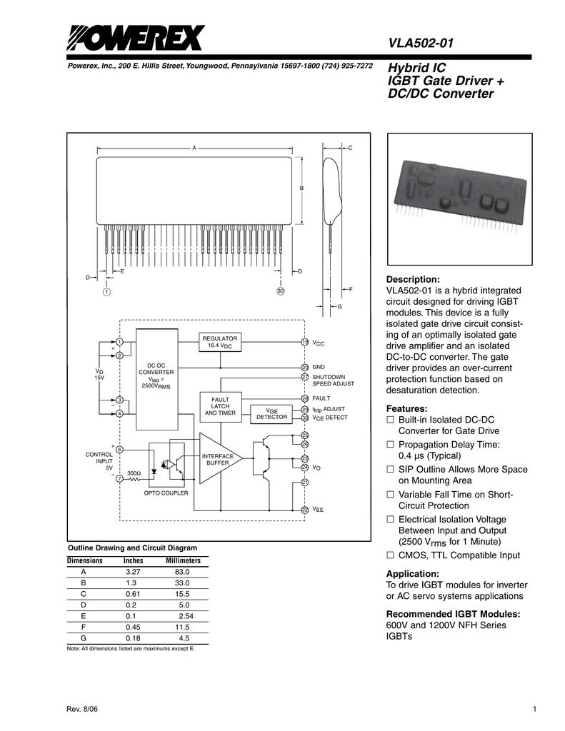 hight resolution of vla502 01 hybrid ic igbt gate driver dc dc converter
