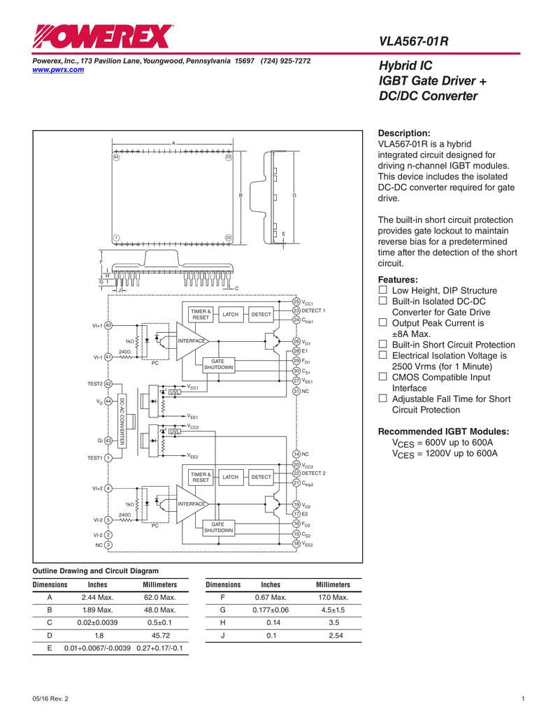 hight resolution of vla567 01r hybrid ic igbt gate driver dc dc converter