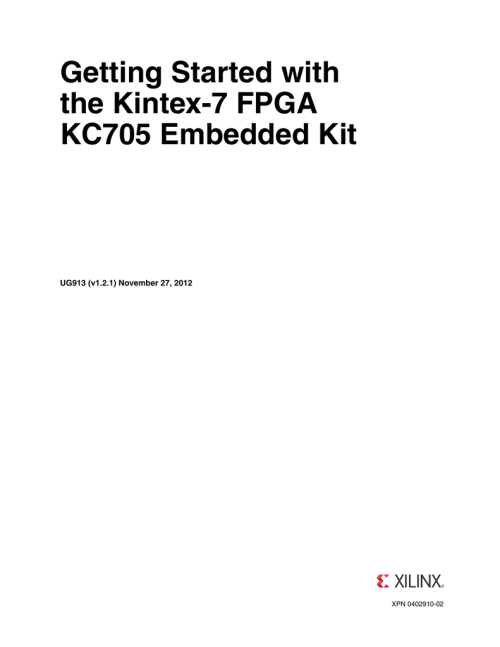small resolution of getting started with the kintex 7 fpga kc705 embedded kit