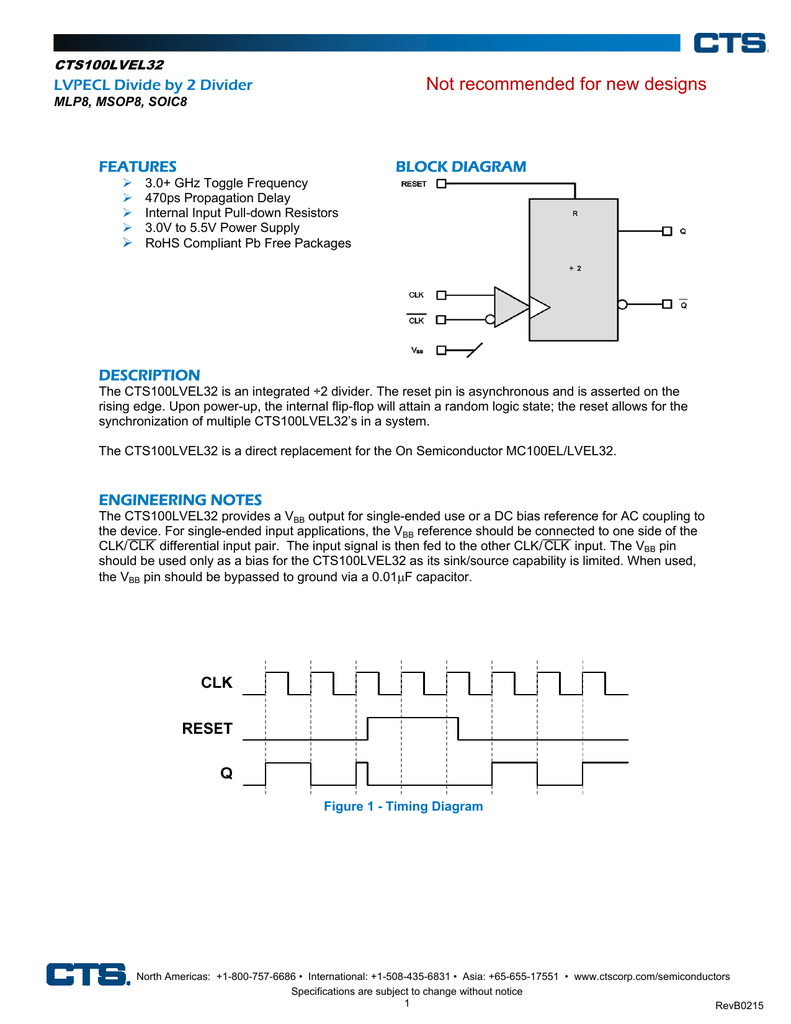 medium resolution of not recommended for new designs lvpecl divide by 2 divider block diagram