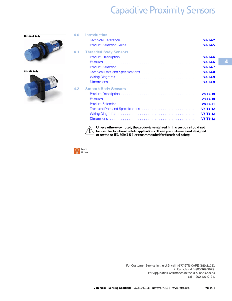 medium resolution of capacitive proximity sensors 4 4 0 introduction manualzz com wiring diagram also inductive proximity switch on 30 cutler hammer