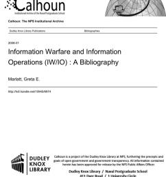 information warfare and information operations iw io a bibliography marlatt greta e  [ 791 x 1024 Pixel ]