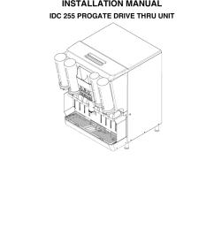 installation manual idc 255 progate drive thru unit www cornelius com [ 791 x 1024 Pixel ]