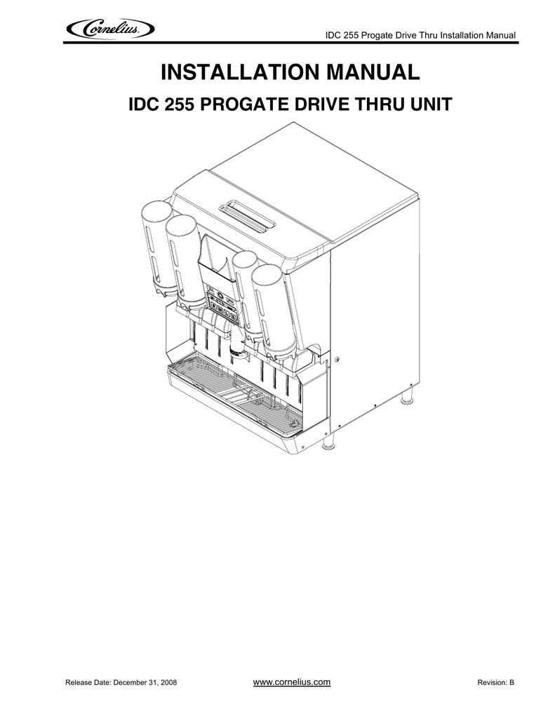 medium resolution of installation manual idc 255 progate drive thru unit www cornelius com