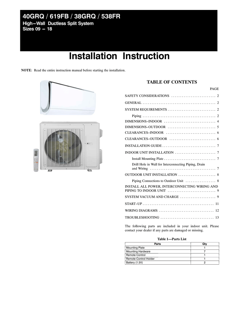 hight resolution of installation instruction 40grq 619fb 38grq 538fr