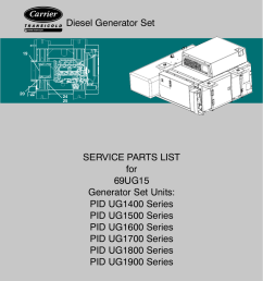 diesel generator set service parts list for 69ug15 [ 791 x 1024 Pixel ]