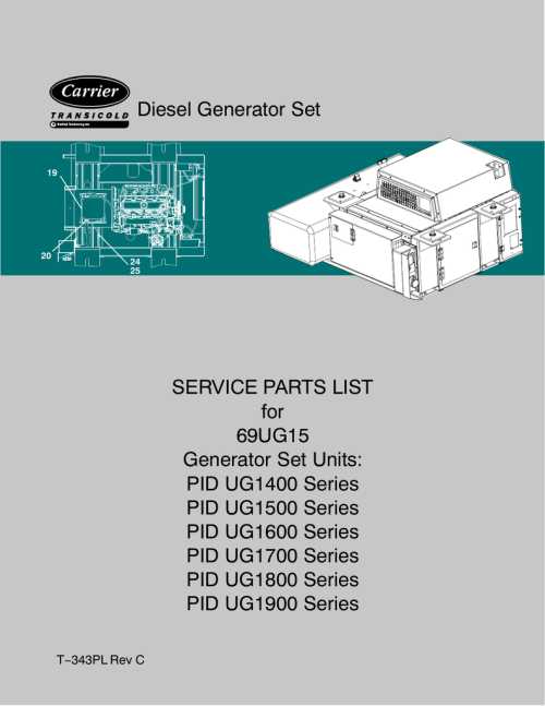 small resolution of diesel generator set service parts list for 69ug15