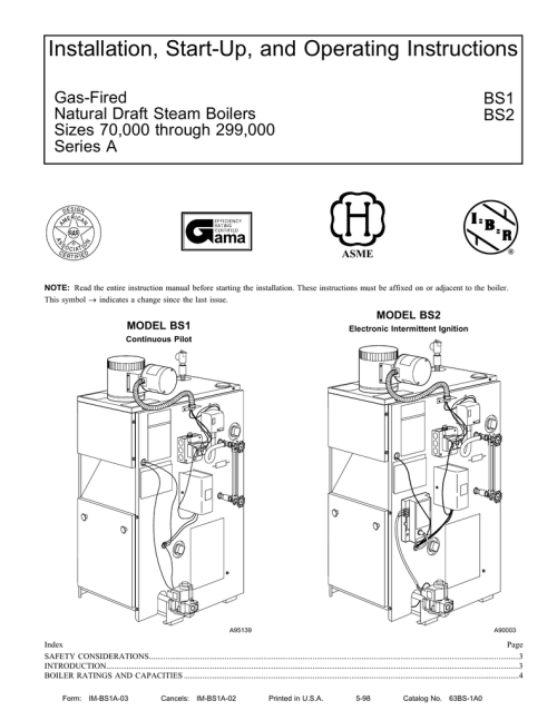small resolution of installation start up and operating instructions ama gas fired bs1