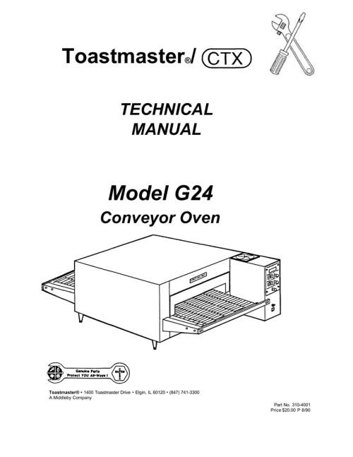 small resolution of toastmaster model g24
