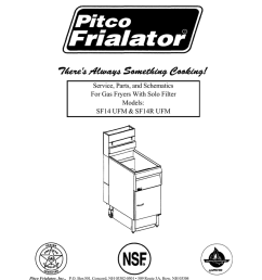 service section service parts and schematics for gas fryers with on deep fryer wire  [ 791 x 1024 Pixel ]
