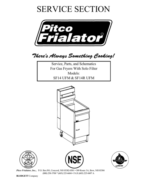 small resolution of  service section service parts and schematics for gas fryers with on deep fryer wire