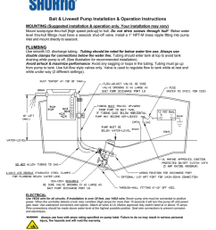 bait amp livewell pump installation amp operation instructions [ 791 x 1024 Pixel ]
