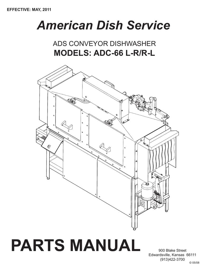 PARTS MANUAL American Dish Service MODELS: ADC-66 L-R/R-L