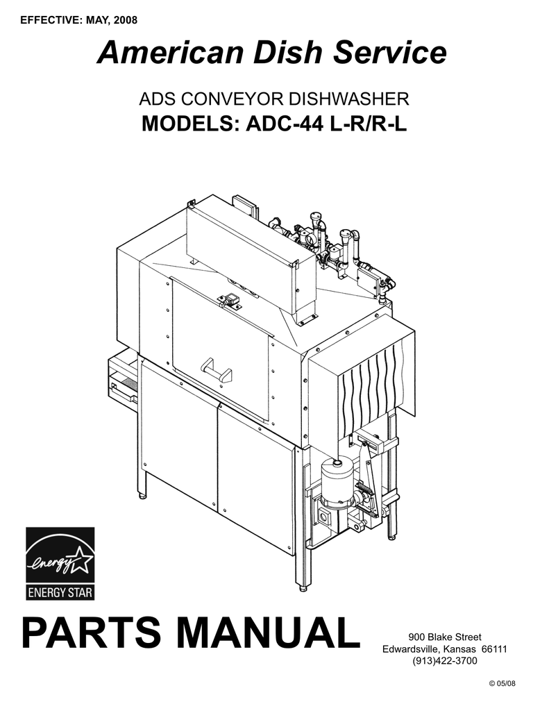 PARTS MANUAL American Dish Service MODELS: ADC-44 L-R/R-L