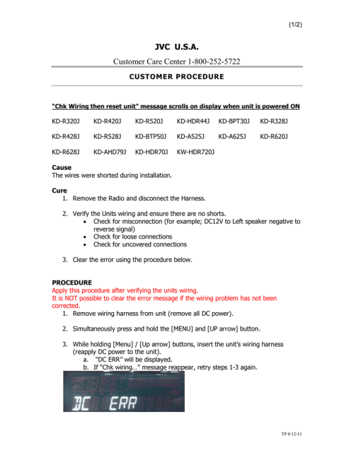 small resolution of jvc u s a customer care center 1 800 252 5722 customer procedure