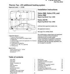 coolant heater installation instructions volvo s60 volvo v70 and volvo s80 [ 791 x 1024 Pixel ]