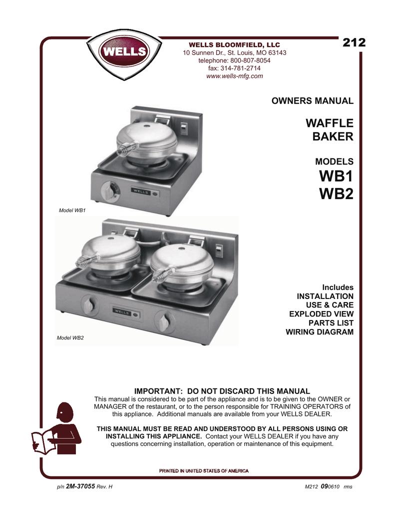 medium resolution of wb1 wb2 212 manualzz comwaffle iron wiring diagram 20