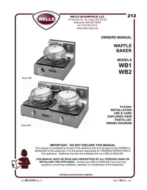 small resolution of wb1 wb2 212 manualzz comwaffle iron wiring diagram 20