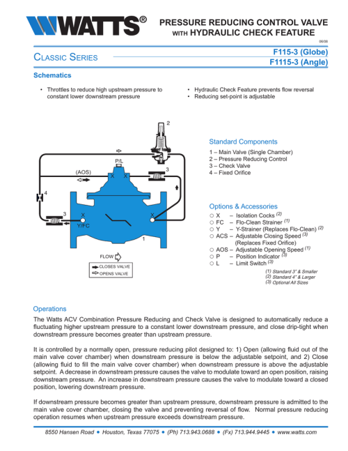 small resolution of c s pressure reducing control valve hydraulic check feature