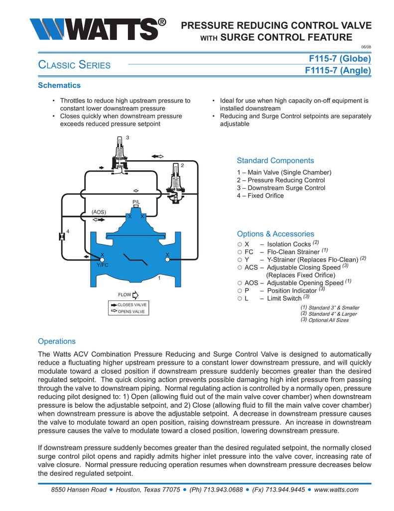 hight resolution of c s pressure reducing control valve surge control feature
