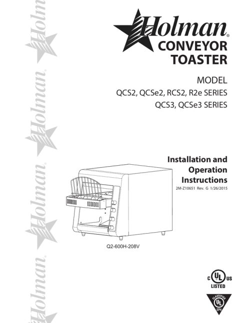 small resolution of conveyor toaster model qcs2 qcse2 rcs2 r2e series