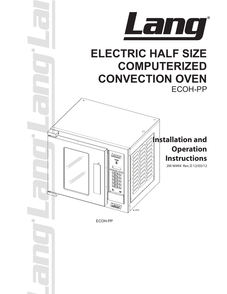 ELECTRIC HALF SIZE COMPUTERIZED CONVECTION OVEN ECOH-PP