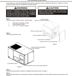 installation instructions for sg sh sa 24 60 units manualzz com wiring diagram model mercial rooftop hvac units with economizer 5 wire [ 791 x 1024 Pixel ]