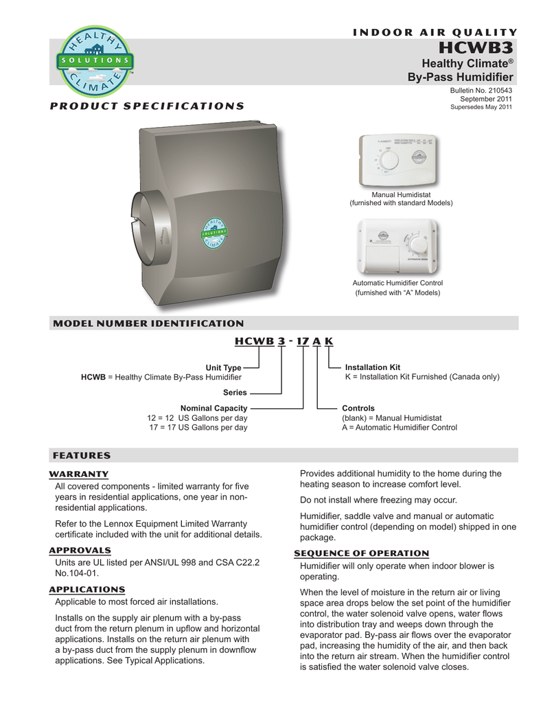 medium resolution of hcwb3 healthy climate by pass humidifier