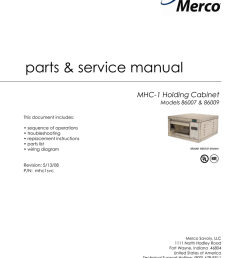 parts service manual mhc 1 holding cabinet models 86007 86009 manualzz com [ 791 x 1024 Pixel ]