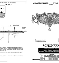 chandelier 5635 a trim diagram instructions for electrician 2 [ 1024 x 783 Pixel ]