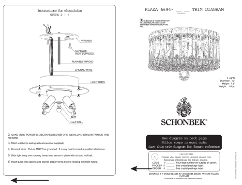 small resolution of plaza 6694 trim diagram instructions for electrician t