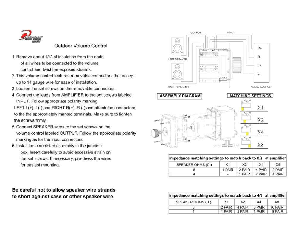 medium resolution of 300 564 dayton audio ovc100gr manual 42840