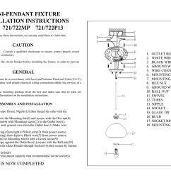 mini pendant fixture installation instructions for 721 722mp 721 722p13 caution [ 1024 x 780 Pixel ]
