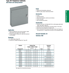 type 1 3 amp 3r enclosures utility cabinets type 3r telephone cabinets [ 791 x 1024 Pixel ]